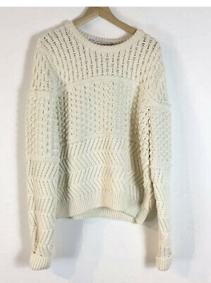 & Other Stories Chunky Slouchy Knit Knitted Sweater Jumper L Pullover Cream • 44£