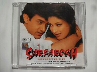SARFAROSH ~ Bollywood Soundtrack Hindi CD ~ Jatin Lalit ~ 1999 • 6.95£