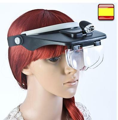 Visor With Magnifying Glass Binocular And Light More Lens Of Magnifiers Trading • 26.27£
