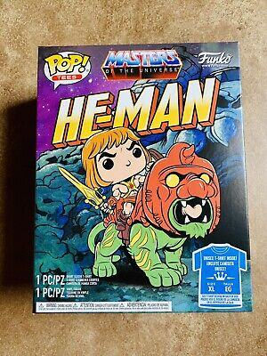 $35 • Buy Funko POP! He-Man Masters Of The Universe Glow In The Dark Pop & T-Shirt XL