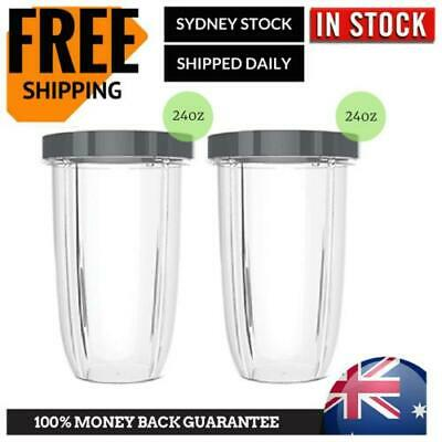AU18.95 • Buy 2 NUTRIBULLET TALL CUPS  BIG CUP 24oz SUITS All 600 900W Nutri Bullet Models
