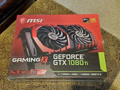 $ CDN453.36 • Buy MSI NVIDIA GeForce GTX 1080 Ti Gaming X 11G GDDR5X - New In Box