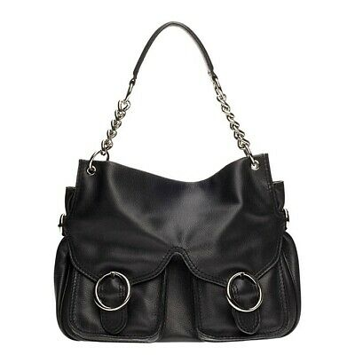 AU59 • Buy Oroton Jackie Slouchy Pebble  Leather Tote Hobo **RRP$595** Silver Chain Detail