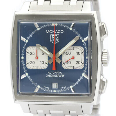Polished TAG HEUER Monaco Chronograph Steve McQueen Steel Watch CW2113 BF517601 • 2,896£