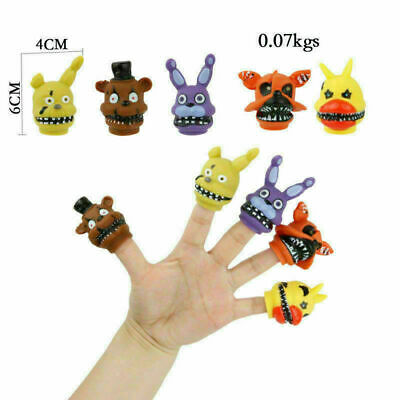 AU12.89 • Buy 5pcs Five Nights At Freddy''''s Finger Puppet Toys  PVC FNAF Chica Hand Doll Gif