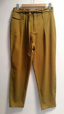 AU19.95 • Buy Zara Ladies Mustard High Waist Dress Pants Size 12-14  Slim Leg As New