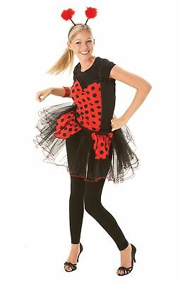 Womens Ladybird Basque Top Fancy Dress Accessory Insect Bug Animal Hen Party • 9.99£
