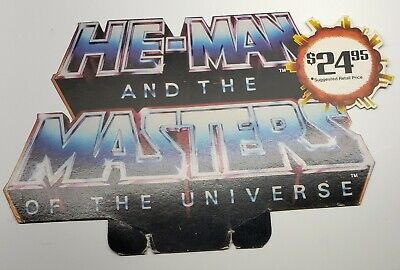 $99.99 • Buy VTG. 1980's HE-MAN MASTERS OF THE UNIVERSE VHS VIDEO STORE DISPLAY( RARE TOPPER)