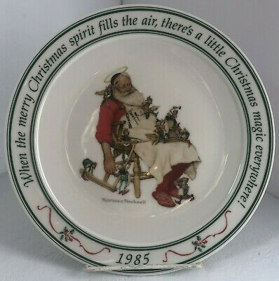 $ CDN16 • Buy Hallmark Norman Rockwell 1985 Santa Elves Holiday Christmas Collector's Plate