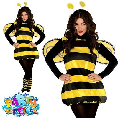 Adults Ladies Bumble Bee Darling Costume Sexy Insect Fancy Dress Outfit Womens • 18.99£