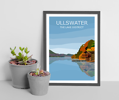 Ullswater Art Print, The Lake District National Park Landscape, Cumbria, Hiking • 19.99£