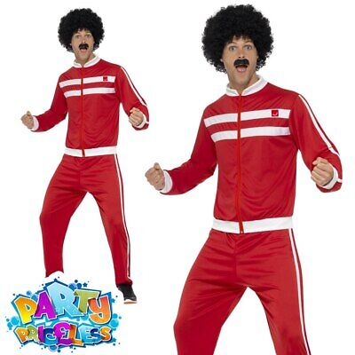 Adults 1980s Scouser Costume Tracksuit Shell Suit Mens Fancy Dress Outfit • 13.99£