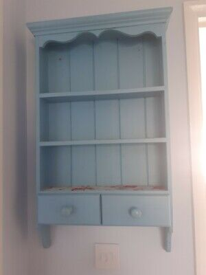 Blue Cath Kidston Embellished Wall Shelf ,Unit , Display Cabinet With Drawers  • 11.70£