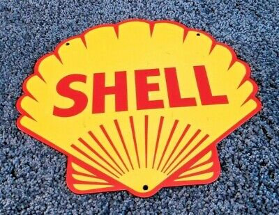 $ CDN210.96 • Buy Shell Gasoline Porcelain Vintage Style Gas Oil Service Station Pump Plate Sign