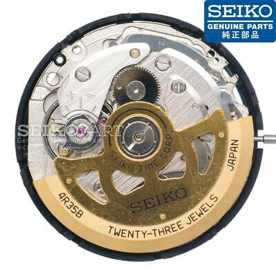 $ CDN132.01 • Buy Seiko 4R35 Automatic Watch Movement & Stem W/ Gold Tone Oscillating Weight Rotor