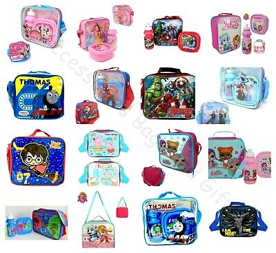 Children's Character Kids School Lunch Set 3Pc Set Or Lunch Bag Only Disney Lol • 6.95£