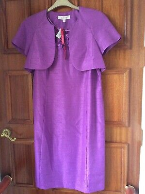 Jacques Vert Size 14 Magenta Dress And Jacket Wedding/Occasion • 49.99£