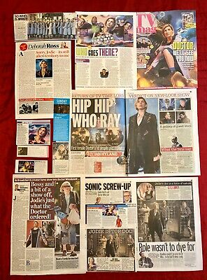 Dr Doctor Who Jodie Whittaker UK Newspaper Magazine Clippings Cuttings Lot 1 • 4.99£