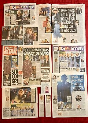Dr Doctor Who Jodie Whittaker UK Newspaper Magazine Clippings Cuttings Lot 2 • 4.99£