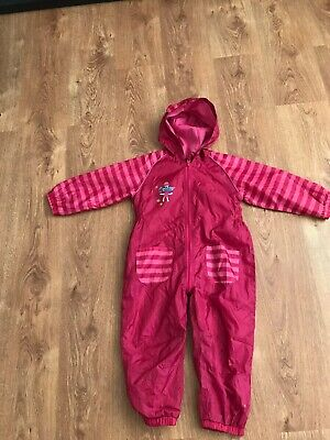 Blue Zoo Age 3-4 All In One Waterproof Rain Suit With Hood Pink Girls  • 5£