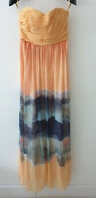 TED BAKER 'STUNNING FULL LENGTH / MAXI DRESS SIZE 2 UK 10.new With Tags ,wedding • 65£