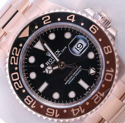 $ CDN55468.90 • Buy Rolex GMT-Master II 18k Everose Root Beer 126715CHNR Black/Brown Ceramic Bezel