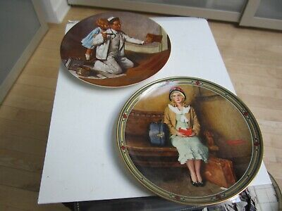 $ CDN9.32 • Buy 2 Norman Rockwell Knowles Collector Plates -- A Young Girls Dream & The Painter