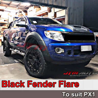 AU284.05 • Buy Matt Black OEM Fender Flares Black Guard Trim Fits To Ford Ranger PX1 2012-2015