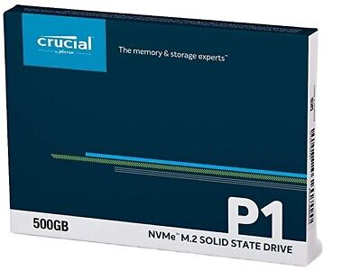 Crucial P1 M.2-2280 500GB PCI Express 3.0 X4 NVMe Solid State Drive New • 56.99£