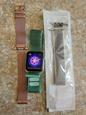$ CDN227.89 • Buy Series 3 Nike Apple Watch 42mm With 2 Extra Watch Bands