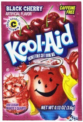 Kool-Aid Black Cherry Unsweetened Soft Drink Mix, 0.13-Ounce Envelopes (Pack Of • 19.38£