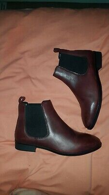 Burgundy Chelsea Ankle Boots Size Uk 7 (40)  • 4.99£