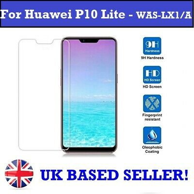 £2.97 • Buy 100% Genuine Tempered Glass Screen Protector For Huawei P10 Lite - WAS-LX1/LX1A