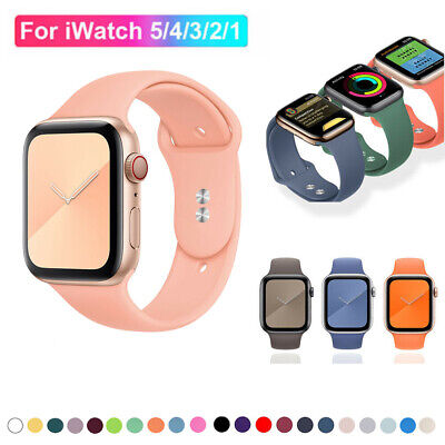 $ CDN5.81 • Buy Watchband Band Adjustable Strap Band For Apple Watch Series 5/4/3/2 /1 Rubber