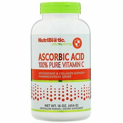 100% Pure Vitamin C - Nutribiotic Immunity Ascorbic Acid -  16 Oz (454 G) NEW • 21.99£
