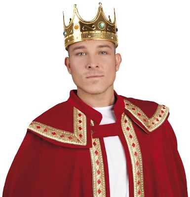 £9.80 • Buy Hat King Crown Mens Fancy Dress Nativity Medieval Book Day Adult Costume