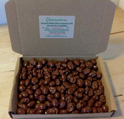 Sugar-Free Milk Chocolate Peanuts & Raisins Hamper Birthday Present Gift Box  • 10£