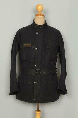 Mens BELSTAFF Belted Motorcycle WAXED Jacket Size Large • 190£
