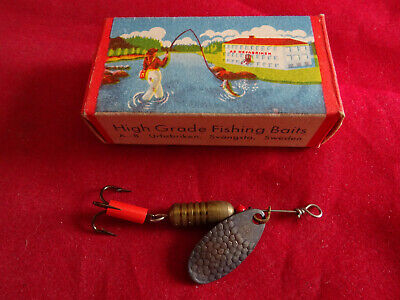 $ CDN46.52 • Buy A Rare Early Abu Lill-atom Lure Box With Abu Record Flax Spinn Fishing Lure