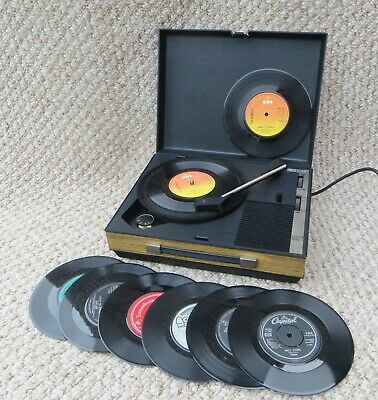 Compact 'fidelity Hf42' Vintage Record Player + 8 Records *new Cartridge*   • 40£