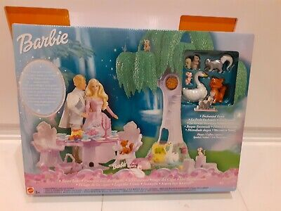 Barbie Doll Mattel Swan Lake Enchanted Forest Play Set NRFB 2003 RARE • 40£