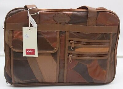 BNWT Cotton Traders Brown Leather Travel Bag ##BELB211 • 9.99£