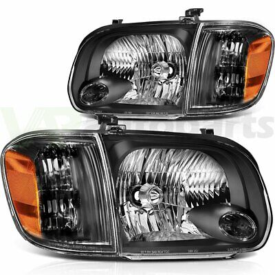 $144.70 • Buy L+H Headlight Assembly For 05 06 Toyota Tundra 07 Sequoia Replace Black Housing
