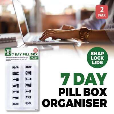 AU6.88 • Buy Weekly 7 Day Pill Box Medicine Storage Tablet Container Organizer Portable Snap