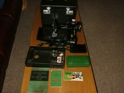 $390 • Buy Vintage, Rare, Singer 221 Featherweight Sewing Machine W/case Manual & Extras