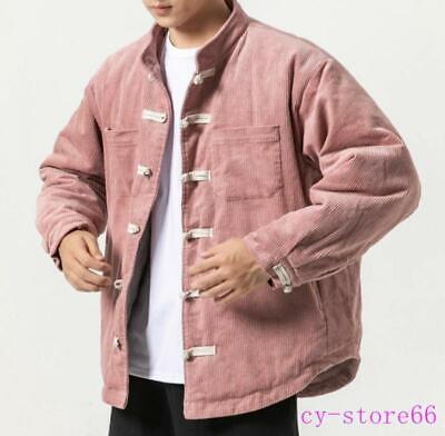 $98.99 • Buy Mens Corduroy Coats Padded Quilted Jackets Tang Suits Clothes Chinese Style 2020