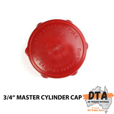 AU7.50 • Buy Trailer 3/4  Hydraulic Master Cylinder Coupling Hitch Fluid Pump Red Cap Only