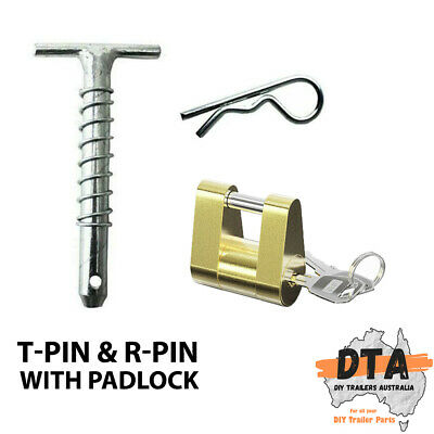 AU32.95 • Buy Trailer Hitch Draw Bar T Pin Treg Trigg Lock For Off Road Coupling Adapter