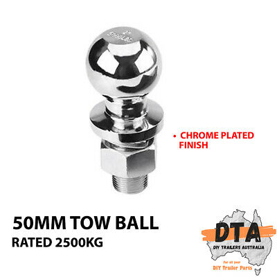 AU20.36 • Buy Chrome Tow Ball 50mm - 2500kg - 19mm (3/4 ) Shank - Trailer Hitch Towball 4wd