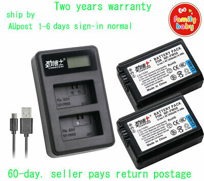 AU49.88 • Buy 2X1950mAh Battery + Charger For Sony NP-FW50 Alpha A3000 A3500 A5000 A6500 A6000